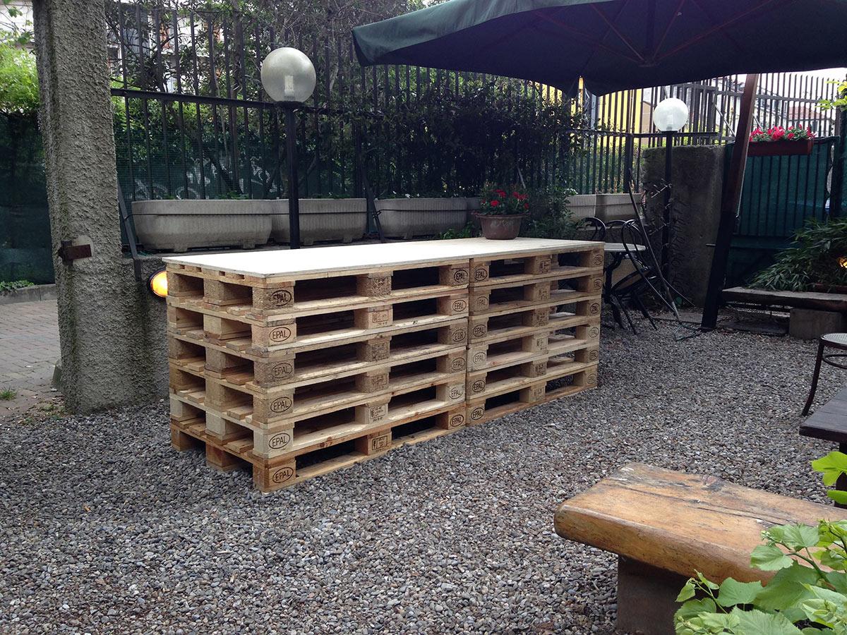 Pallet in abete per arredamento orto urbano for Arredamento pallets