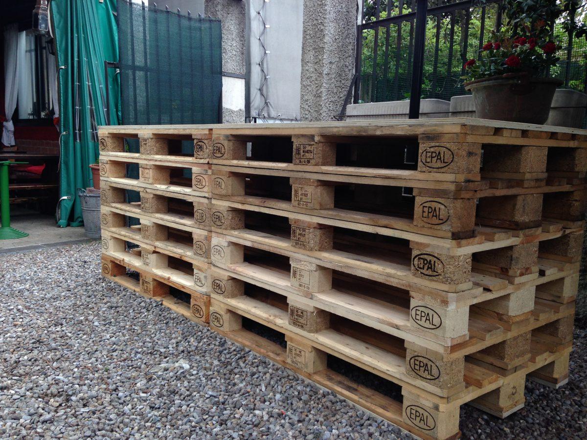 I pallet come bancone orto urbano for Tucano arredamento