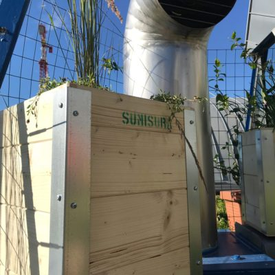 """Orto Urbano """"Sumisura"""" per un giardino pensile su terrazzo condominiale"""